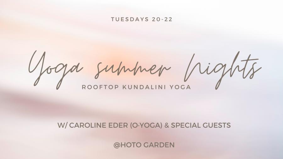 20.00 – 22.00 | Yoga Summer Nights @rooftop HOTO Garden